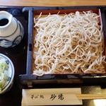 行徳 砂場 - もりそば(550円)