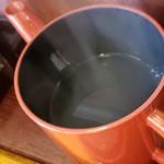 行徳 砂場 - 蕎麦湯