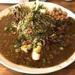 アジアンキッチン オオツカレー - Aポークキーマの薬膳スパイスカレーと、C鶏軟骨のスパイシーペッパーの2種あいがけ