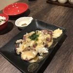 朝挽き鶏 炭火串焼き 牡丹 - 自家製ダレのごまレバー