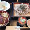 お食事処すが野 - 料理写真:ソースカツ丼と信州そば