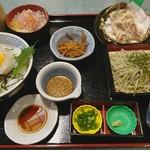 たわら家 - 料理写真:隠岐の白イカ丼セット