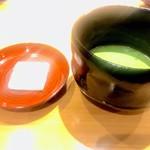 銀座 すが家 - 抹茶とお菓子(落雁)