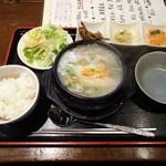 鳥よし - 料理写真:参鶏湯(サムゲタン)膳