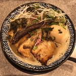 隠岐の島ラーメン - 環流ラーメン 煮玉子トッピング