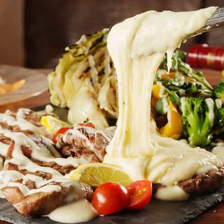 3種ステーキプレートとアリゴの贅沢チーズコース3H5000円