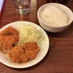 東龍 - ●東龍そば+唐揚げ定食900円税別