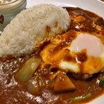 カレー屋SUN - 野菜カレープレート+半熟たまご