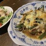 喫茶モア - 若鶏の和風チーズ焼きセットドリンク付き 1,200円