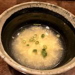 105127048 - 玉子スープ                         普段はお味噌汁なのだそうですが、気分で変わるのだとか(^^)
