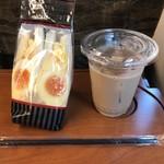 Cafe&Bar DEUR - アイスカフェオレ&たっぷり半熟たまごサンド
