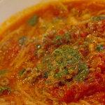 ゲンロ&カフェ - 挽き肉と大葉のトマトパスタ
