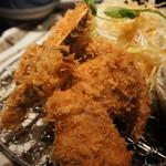 10513707 - ランチ「ひれかつ3枚と野菜天ぷら3種」