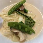 らーめん 稲荷屋 - 料理写真:4 種類の貝のマリニエール 季節のレギューム