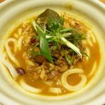 105135630 - 琉香豚と季節野菜のカレーうどん