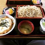 なが山 - 料理写真:もりそば + ミニ親子丼 ¥500+350-