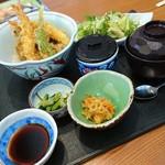 藍屋 - 天丼ランチ(茶碗蒸し付き)980円