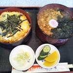 そば処 高喜屋 - 親子丼合わせ 1.050円(税込)(2019年4月6日撮影)