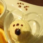 Sweets Smile - とーきゅんにゃんにゃんパンケーキセット 1296円(税込)のアイスのアップ【2019年1月】