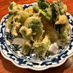 家庭料理 まさき - 山菜の天ぷら