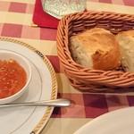 105160514 - たっぷり自家製オレンジジャム付きパン