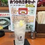 鶴餃子 - 酎ハイレモン