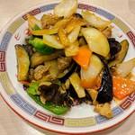 龍味 - 茄子と豚肉のピリ辛炒め 茄子とろウマー!