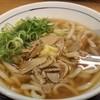ウエストうどん - 料理写真:かしわうどん。真ん中に生姜がのっかっています。
