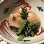 よし川 新別館 - 桑名の筍とわさび菜の炊き合わせ