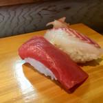 笹寿し - 赤身、鯛