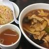 南京亭 - 料理写真:肉そば+半チャーハン