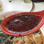 テールラーメン&テールカレー よし久 - 真っ黒なスープは甘めでコクの有る味♪