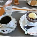 たけっち カフェ - スイーツセット アイスクリームぜんざい&珈琲
