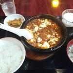 食香閣 - 【石焼き麻婆豆腐定食¥680(税込)】