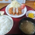 お食事処 福 - 料理写真:三元豚ミルフィーユかつ定食ご飯大盛