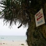 105185636 - ビーチ&お店への入口