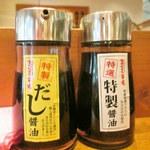鮪市場 - 2種類の醤油