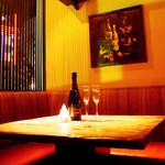 焚膳 はなれ - 人気の半個室席は4名様まで利用可。