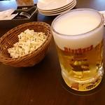 ビアブルグ 梅田 - ビールとお通し?のポップコーン