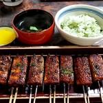 松野屋 - 定食(田楽、菜めし小盛、吸物、香物)1000円