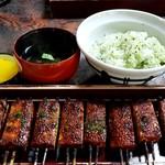 松野屋 - 定食(田楽、菜めし、吸物、香物)1150円