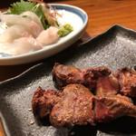 串焼 錦江 - レバーはとろっとした食べ応え