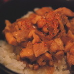 麺 玉響 - 鶏もも肉のしょうが焼御飯