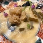 ふじさわ - 赤酢飯を加えてとろろ飯