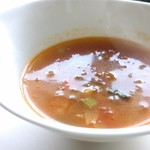キュイジーヌ 駱駝 - あか牛ランチのスープ、ミネストローネ仕立て