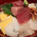 寿司厨房 六山 - 日替わりランチ(平日のみ)の地魚丼1,000円別角度から
