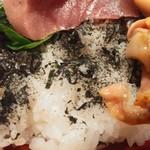 寿司厨房 六山 - ご飯はこんな感じ