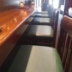 寿司厨房 六山 - カウンター席