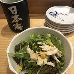 寿司居酒屋 日本海 - サラダ、一般的居酒屋さんランチで出てきそうな。
