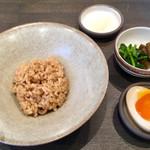 Le sel  - 京茶飯・味玉・漬物・岩塩